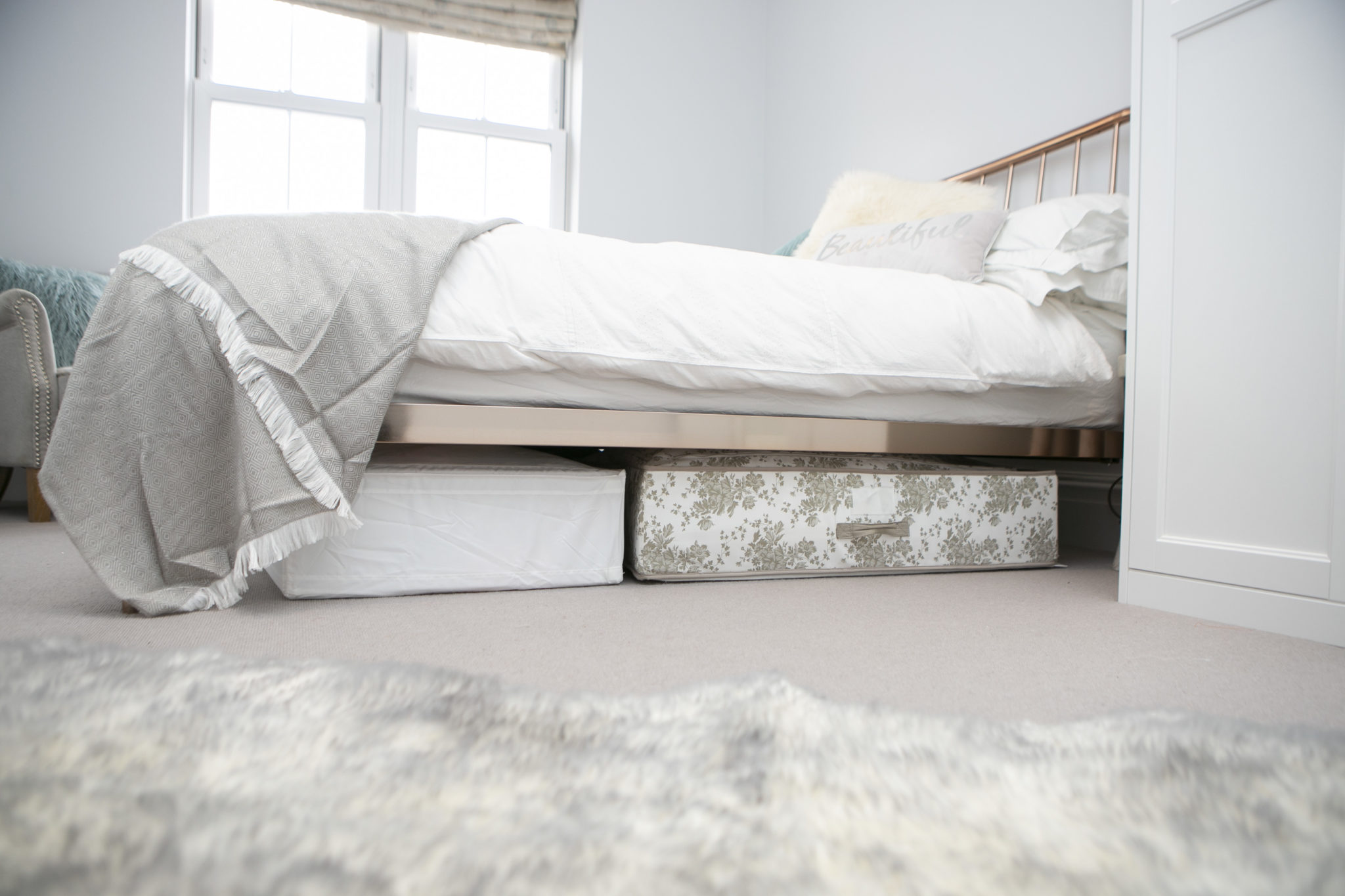 Underbed storage to declutter your home