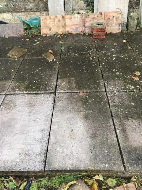 Garden patio 2 before jet-washing