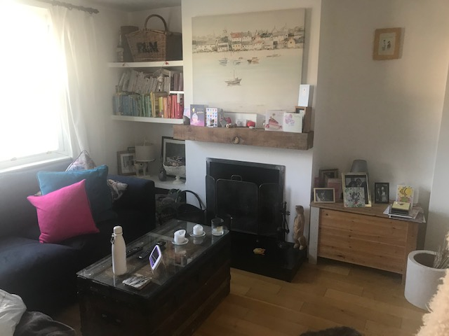Tidy living room after decluttering