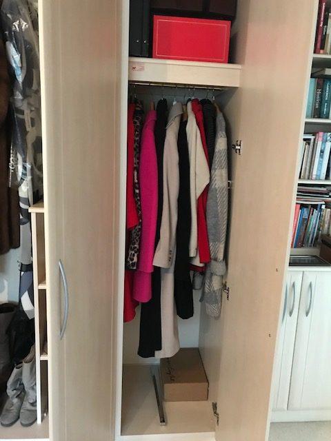 Decluttered wardrobe