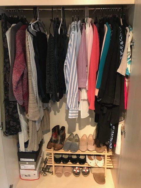 Wardrobe after decluttering