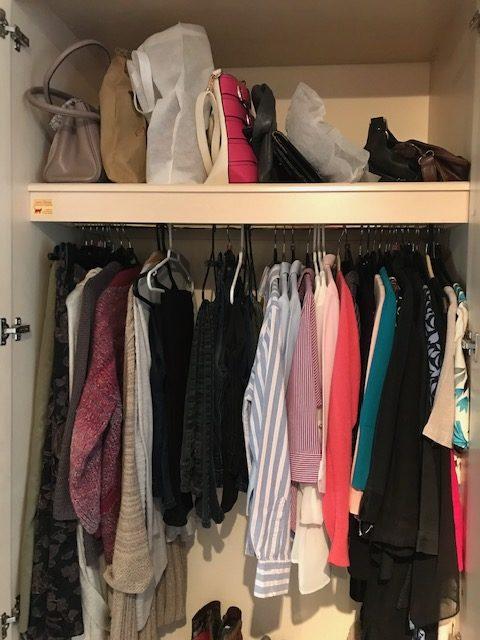 Wardrobe after decluttering